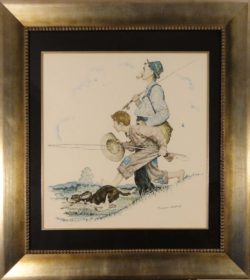 Gramps and Me Go Fishing by Norman Rockwell